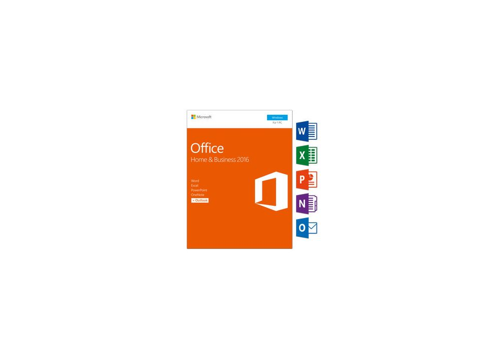 Microsoft Office Home & Business 2016 Medialess