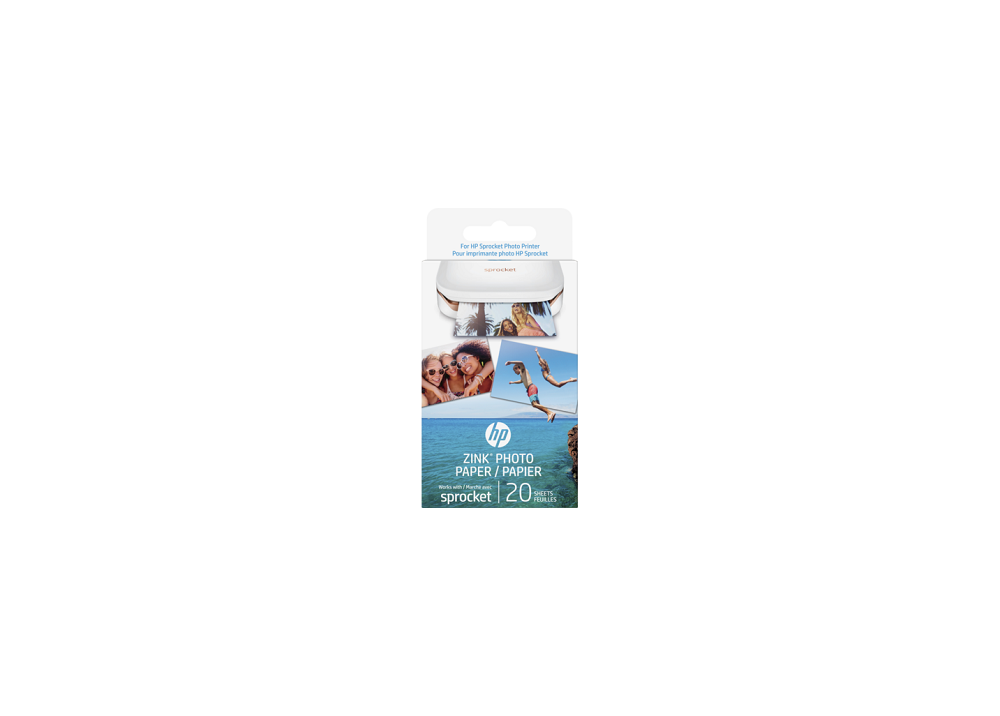 "HP SPROCKET ZINK® Sticky-backed 2"" x3"" Photo Paper (20 Sheet Pack)"