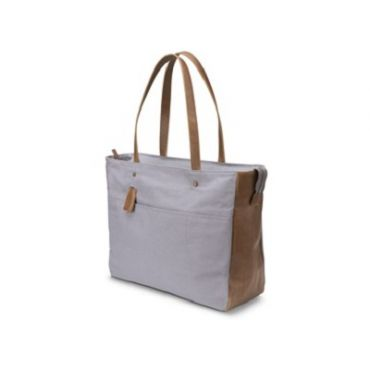 HP 14 Grey/Brown Women Canvas Tote
